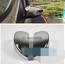 FIT FOR FORD ESCAPE KUGA SIDE DOOR MIRROR CHROME COVER CAP REAR VIEW MIRROR TRIM 2013 2014