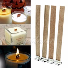 E74 10Pcs 8mm x 90mm Candle Wood Wick with Sustainer Tab Candle Making Supply(China)