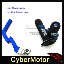Blue Kick Starter Lever Handle Grips For Chinese Dirt Pit Protaper Bike Lifan YX Engine 50cc 90cc 110cc 125cc 140cc 150cc 160cc(China)
