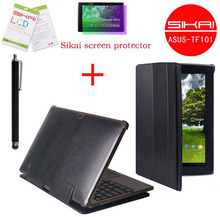 3in1 Set For ASUS TF101 pad luxury leather case  match dock + Screen Protector + Pen