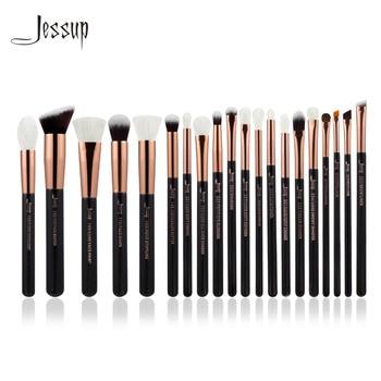 Jessup Rose Or/Noir Professionnel Maquillage Pinceaux Make up Brush Outils kit Fondation Poudre Brosses naturel-synthétique cheveux