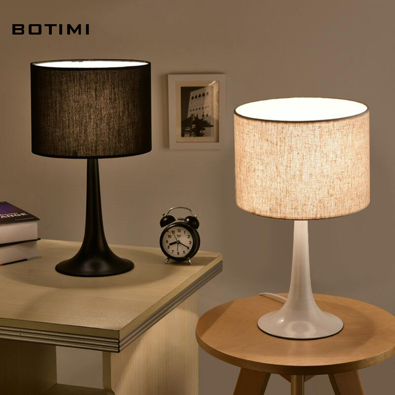 BOTIMI Modern and simple table lamp with lampshade abajur de mesa lamparas desk lamp for bedroom reading bedside lighting <br><br>Aliexpress