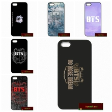 Korea BTS bangtan boys Team Logo Cover case for iphone 4 4s 5 5s 5c 6 6s plus samsung galaxy S3 S4 mini S5 S6 Note 2 3 4   A571