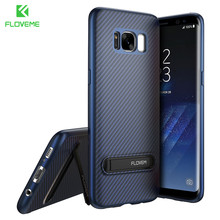 FLOVEME Luxury Phone Case For Samsung S8 Plus Case Kickstand Mobile Phone Cover For Samsung Galaxy S8 NOTE 8 Case Silicone(China)