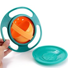 Creative Children's Feeding bowl Multifunction Rotary Small Flying Saucer 360 Rotating Spill-Proof boys girls dishes(China)