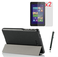 4in1 Ultra Slim Magnetic Folio Stand Leather Case Smart Cover +2x Clear Films +1x Stylus For Dell Venue 8 Pro 3840 Windows 8.1