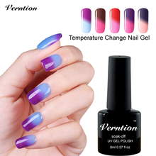 Verntion Cheap Gel Temperature Color Changing Gel UV LED Saok Off Nail Gel Polish Profeesional Manicure Nail Art Varnish