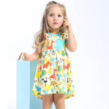 Baby Girls Summer Dress Tunic 2017 Brand Robe Fille Character Clothes Kids Birthday Dress Princess Costume for Children Jersey