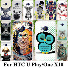 Phone Case For HTC U Play Alpine One X10 E66 Cat Tiger Housing Cover Plastic Shock-Proof Bag Coque For HTC One X10 E66 Cases