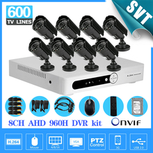 Video surveillance 600tvl camera security system 8ch cctv AHD 960h network dvr recorder kit 8 channel HDMI 1080p 1TB hdd SK-191