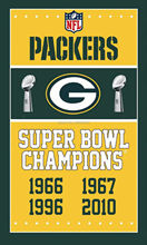 Green Bay Packers Super Bowl Champions Man Cave Sports Banner Basketball Flag 3' x 5' Custom Hockey Baseball Football Flag