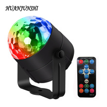 Mini LED Stage Light 3W 110V 220V RGB Crystal Magic Ball Stage Lights Disco Stage Lamp Sound Activated Strobe Stage Lighting(China)