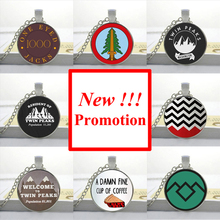 NS-00211 New Fashion Picture Necklace Twin Peaks Necklace Twin Peaks Coffee Mug Pendant Art Glass Cabochon Necklace HZ1
