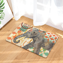 Homing Colorful Mandala Elephant Rectangular Mats Entrance Doormats Water Absorption Kitchen Floor 40*60cm 50*80cm Bath Mat(China)