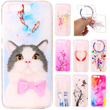 Fashion Cartoon Soft TPU Silicone case for Huawei P8 P9 P10 lite 2017 Y3 Y5 II Honor 8 Nova Transparent Cat flowers Painted Case
