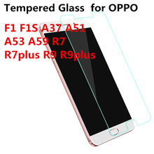 Tempered Glass for OPPO F1 F1S A37 A51 A53 A59 R7 R7plus R9 R9plus plus Screen protect Film FONE F ONE FONES F ONE S discount