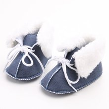 2017 5 Colors Newborn Baby Infant Toddler Girls Boy Children First Walkers Boots Booties 0-1T for Winter(China)