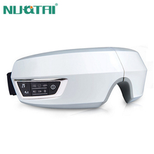 NUOTAI Electric Air pressure Eye massager with mp3 functions.Wireless vibration eye magnetic far-infrared heating.Eye care