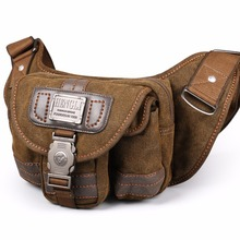 2017 Ruil Retro Canvas waist bag men's fashion multi-functional pockets Leisure Picnic Phone bag Toolkit Vintage Package