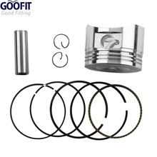 GOOFIT Motorcycle 52.4mm Piston Ring 13mm Pin Set Kit Assembly for 110cc 125cc ATV  Dirt Bike & Go Kart K082-004