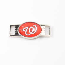 Washington Nationals MLB Baseball Team Logo Oval Shoelace Charms For Sport Shoes And Paracord Bracelets Jewelry Decoration 6pcs