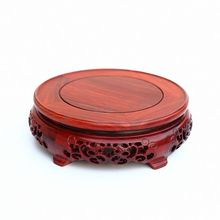 Red wingceltis of solid wood carving round base household act the role ofing is tasted annatto handicraft furnishing articles(China)