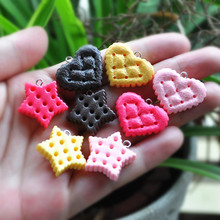 DIY cookie charms resin charms necklace pendant keychain charms for DIY decoration 20pcs