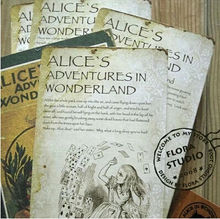 20pcs/lot NEW Vintage style Alice's Adventure in Wonderland post card set//Greeting Card/Christmas gift