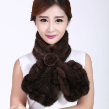 men and women Mink knitted scarf  Girl luxurious winter beautiful fish-tail lace plain scarf Winter woman with scarf black/coff