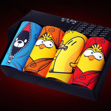 Funny Birds Mens Boxer Shorts Cartoon Breathable Mens Bamboo Underwears Trunk Sexy Penis Pouch Panties 4pcs/set(China)