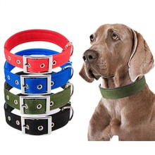 SYDZSW Adjustable Metal Buckle Dog Collar for Small Medium Large XLarge Dogs Classic Padded Tough Nylon Pet Collar for Dogs