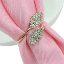 10pcs/lot crystal Diamonds Napkin Ring/Wrap Serviette Holder Wedding Banquet Party Dinner Table Decoration Home Decoration(China)