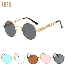 the United States new fashion spring legs, round frames sunglasses, men and women, general sunglasses, metal sunglasses