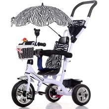 Infant Tricycle  Baby Tricycle Stroller 3 Wheel Baby Stroller Learning Bike Stroller Prams Child Tricycle with Awnings Umbrella