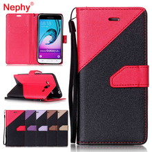Nephy Filp Leather Wallet Case For Samsung Galaxy J3 J300 J300F 2015 J320 J320F 2016 Coque Book Style Silicone Mobile Phone Capa