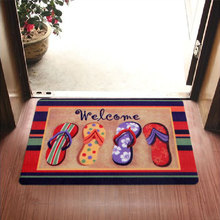 2017 New Welcome Slippers Are Patterned Printing Kitchen Carpets And Rugs Anti-Slip Entrance Door Mats 40*60 CM