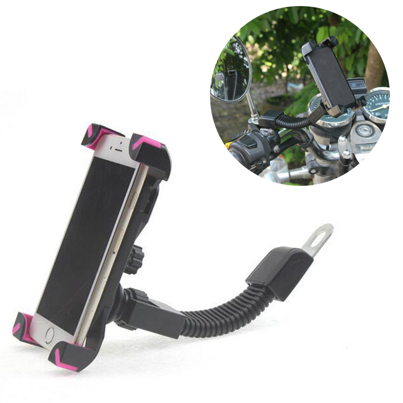 Universal Motorcycle Phone Holder Rear View Mirror Stand Support For Iphone 7 SE 6S 6 Plus J5 J7 S7 GPS Motorbike Mount Bracket