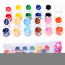 12 colors with 2 paint blue brushes per set acrylic paints for oil painting Nail art clothes art digital wall painting