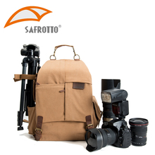 Safrotto Professional Good Quality Outdoor Activity Video DSLR Photographic Canvas Bags Big Capacity Rain Cover Camera Backpacks