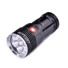 UltraFire Flashlight 7-LED XM-L T6 3200lm White Light LED Flashlight High Bright Torch LED Lamp (4x 18650)(China)