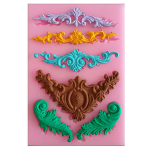 european relief lace mold fondant cake making tool chocolate for the kitchen baking Silicone Decoration tool 13*9*0.8cm