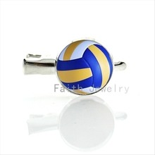 Leisure women hair accessories Beach Volleyball hairgrips charm volleyball picture print glass dome hair pin ball fans gift T255