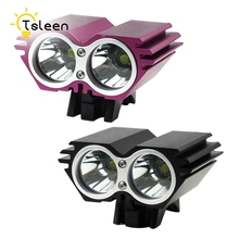 TSLEEN Battery Pack Lamp Front Bike Light Safety Warning Rechargeable Bicycle Light Lamp LED Cycling Bycicle Light(China)