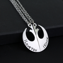 Fashion Jewelry Star Wars Rebel Alliance Necklace I love you I know Necklaces Pendant for Women jewelry(China)