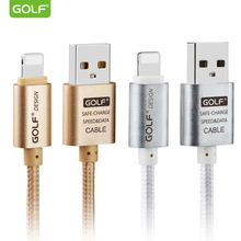 GOLF 25cm 1m 1.5m 2m 3m 8-Pin USB Data Sync Charge Cable For iPhone 5 5S 6 6S 7 Plus iPad mini 2 fast charging usb charger cable(China)