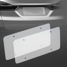 2pc License Plate Frames Flat Cover Shield for US Canada Car License Plate(China)
