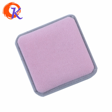 Cordial Design High Quality Square Pink And Gray Double Colour Lint Jewelry Boxes Carring Cases For Necklace Earring And Ring(China)