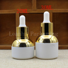 20ML 30ML White Glass Dropper Bottle, Essence/Essential Oil/Perfume Packaging Bottle, Empty Cosmetic Container (15 PC/Lot)