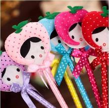 Office School Goods Supplier Cute Cartoon Plush Ballpoint Pen/lovely Ball-point Pen For Children Gift Prize 24pcs/lot Arc132