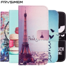 FRVSIMEM Flip Lederen Portemonnee Cover Voor Samsung Galaxy S8 Plus S3 S4 S5 S6 S7 edge Case Voor iphone 4 s 5C 5 5 s SE 6 6 s 7 8 Plus X(China)